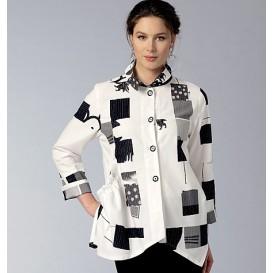 patron chemise ample Vogue V9153