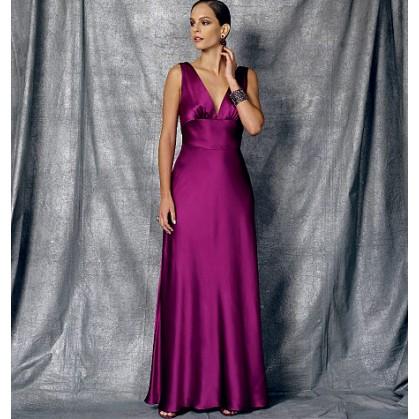patron robe en biais Vogue V1474