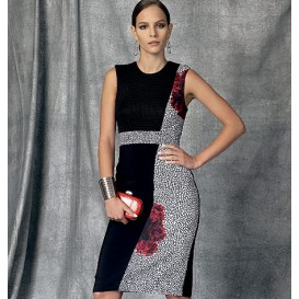 patron robe doublée Vogue V1468