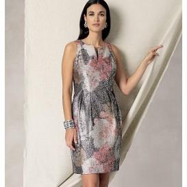 patron robe doublée Vogue V1481