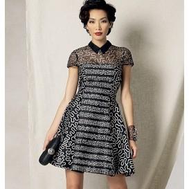 patron robe doublée Vogue V1484