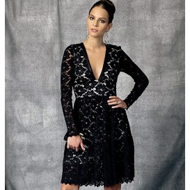 patron robe doublée Vogue V1471
