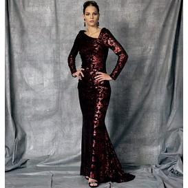 patron robe doublée Vogue V1475