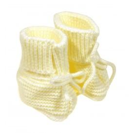 chausson naissance layette jaune