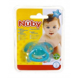 sucette geo orthodontique nuby turquoise 18m+