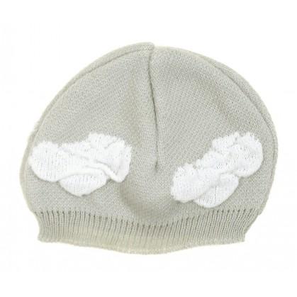 bonnet naissance maille acrylique gris