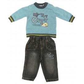 ensemble pull bleu jeans 3mois