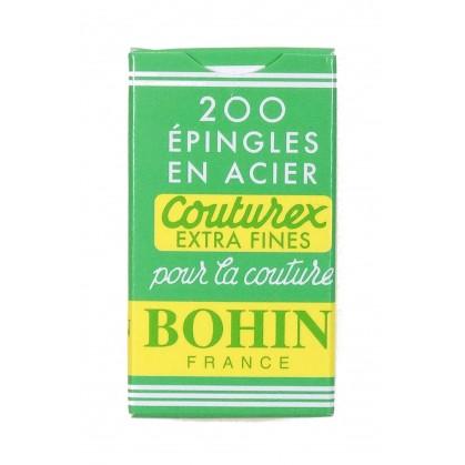200 épingles acier couturex bohin