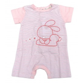 coffret fille combishort lapin rose 0mois