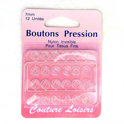 BOUTONS PRESSION NYLON INVISIBLE