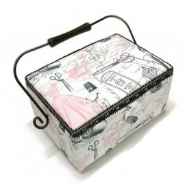 boîte à couture blanche couture 25x18x12cm