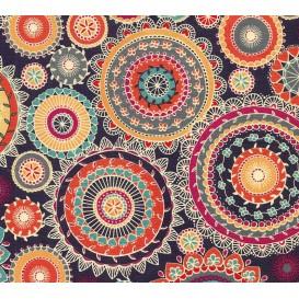 tissu patchwork makower arabesque marine largeur 110cm x 25cm