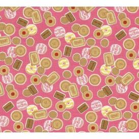 tissu patchwork makower biscuit largeur 110cm x 25cm