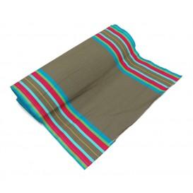 tissu toile transat gris/multi largeur 44cm x 50cm