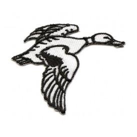 écusson canard noir et blanc thermocollant