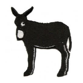 écusson âne noir et blanc thermocollant