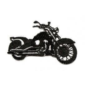 écusson moto noir et blanc thermocollant