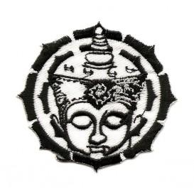 écusson aztèque noir et blanc thermocollant