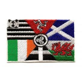 écusson drapeau celtique multi thermocollant