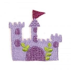 écusson château princesse violet thermocollant