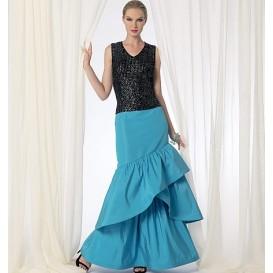 patron jupe semi-ajustée Vogue V9173