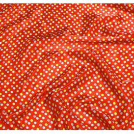tissu satin rouge pois 8mm largeur 148cm x 50cm