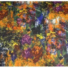 tissu scuba abstrait floral largeur 145cm x 50cm