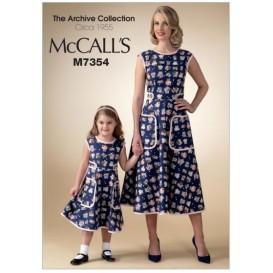 patron robe dos portefeuille McCall's M7354