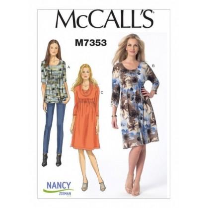 patron haut et robes McCall's M7353