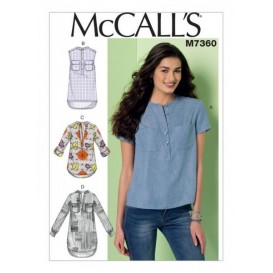 patron hauts amples McCall's M7360