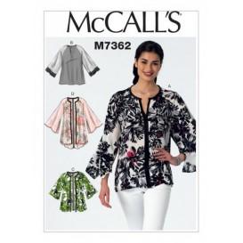 patron hauts et vestes McCall's M7362