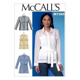 patron gilet, vestes, ceinture McCall's M7365