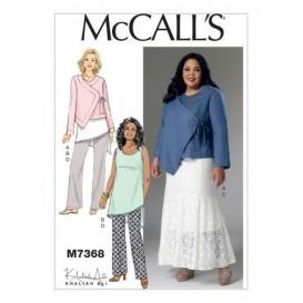 patron veste, tunique, jupe McCall's M7368