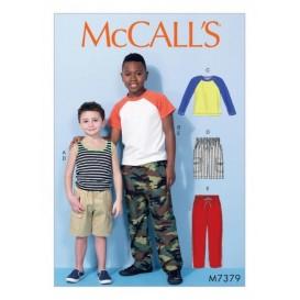 patron enfant hauts, short, pantalon McCall's M7379