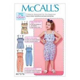 patron enfant barboteuses McCall's M7376