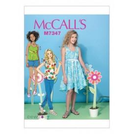 patron enfant hauts, robe, short McCall's M7347