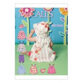 patron robes, culotte, collants bébé McCall's M7342
