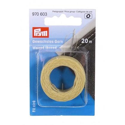 bobine de fil ciré beige pour surpiqûre