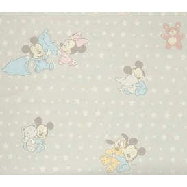 tissu coton disney baby mickey minnie largeur 140cm x 50cm