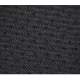 tissu ameublement capri noir/bleu largeur 150cm x 50cm