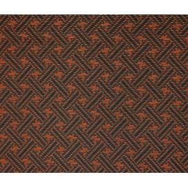 tissu ameublement capri noir/orange largeur 150cm x 50cm