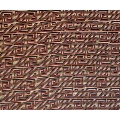 tissu ameublement capri orange/jeune largeur 150cm x 50cm