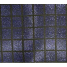 tissu ameublement lainage carreaux bleus largeur 150cm x 50cm