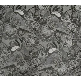 tissu ameublement guadalupe noir largeur 150cm x 50cm