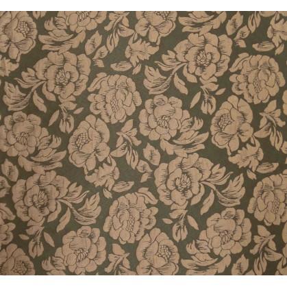 tissu ameublement martinique noir/marron largeur 150cm x 50cm