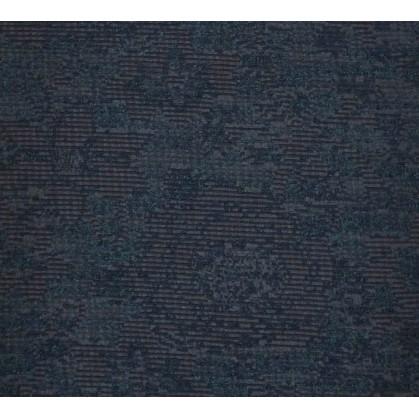 tissu ameublement lainage bleu/noir largeur 150cm x 50cm