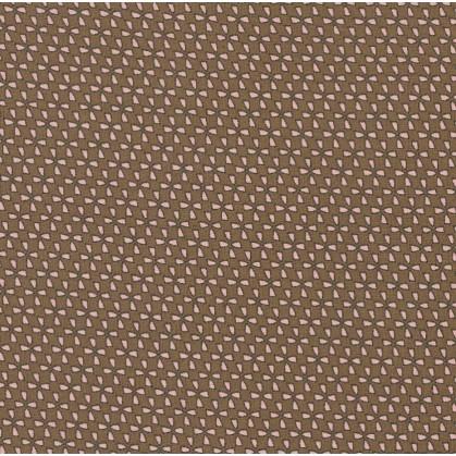 tissu voile polyester étoiles marron largeur 150cm x 50cm
