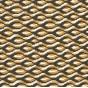 tissu voile polyester formes jaunes largeur 150cm x 50cm
