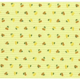 tissu coton anis cerises traits largeur 150cm x 50cm