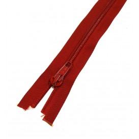 fermetures à glissières spirale 5 rouge 40cm